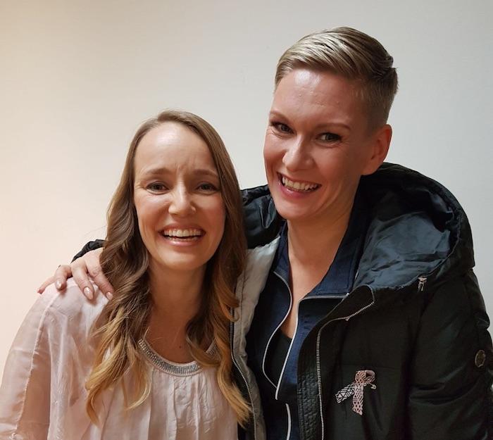 Heidi Sohlberg & Henna Länsipää Kaunis Elämä sarjan kuvauksista
